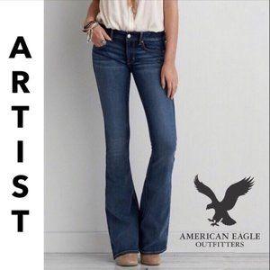 American Eagle Hi Rise Artist Stretch Flare Jeans